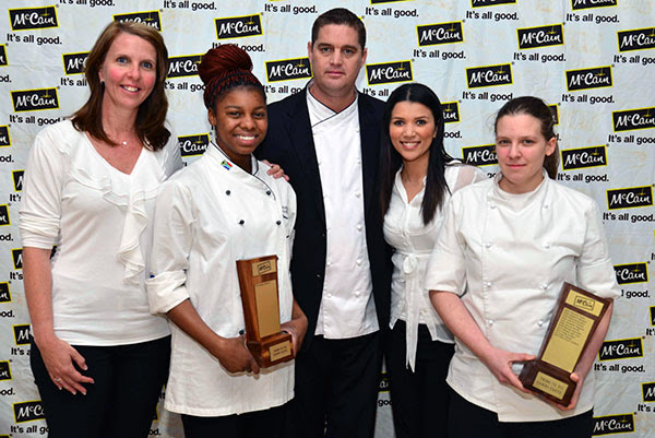 2014 McCain Tribute to Good Taste Winners From left to right: Kelly Du Preez (Category Manager, McCain Foods (SA), Gontse Moyane (Top Student winner), Stephen Billingham (President, South African Chefs Association), Megan Cornelius (Assistant Category Manager, McCain Foods (SA)), Kirstin Hellemann (Professional Chef winner).