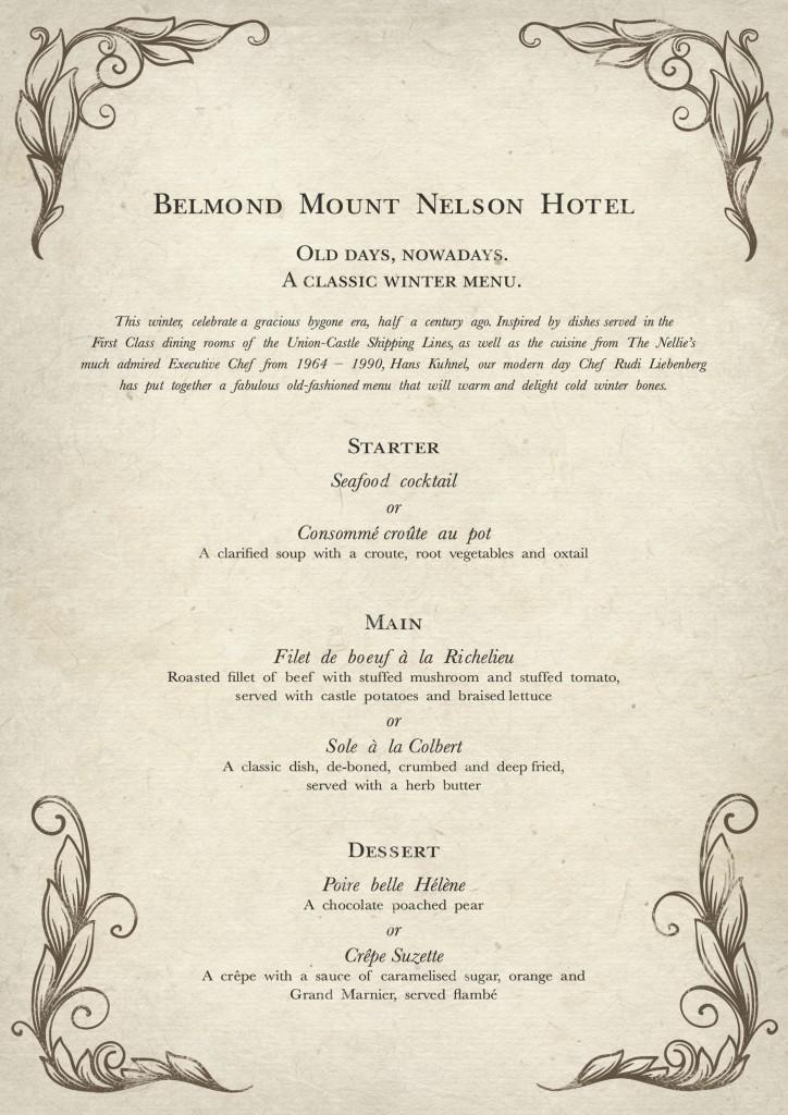 BELMOND VINTAGE MENU v5.indd