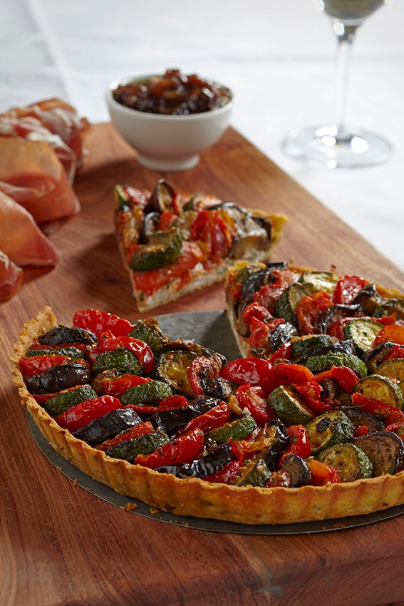 Vegetable Tart Neville Lockhart Photography