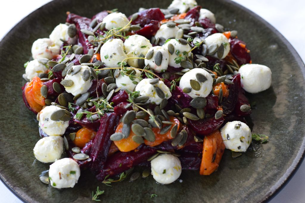 Roaste beetroot and apricot w labneh B
