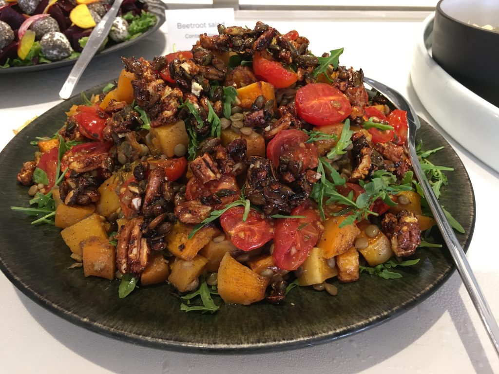 Roasted Butternut with candied nuts