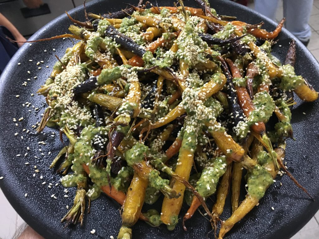 Roasted Baby Carrots with sesame