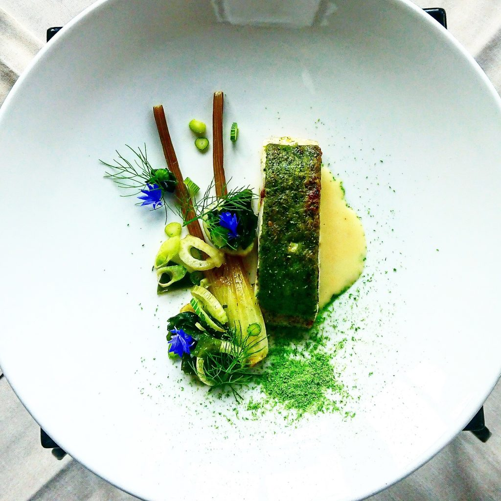 Parsely Crusted Seabass